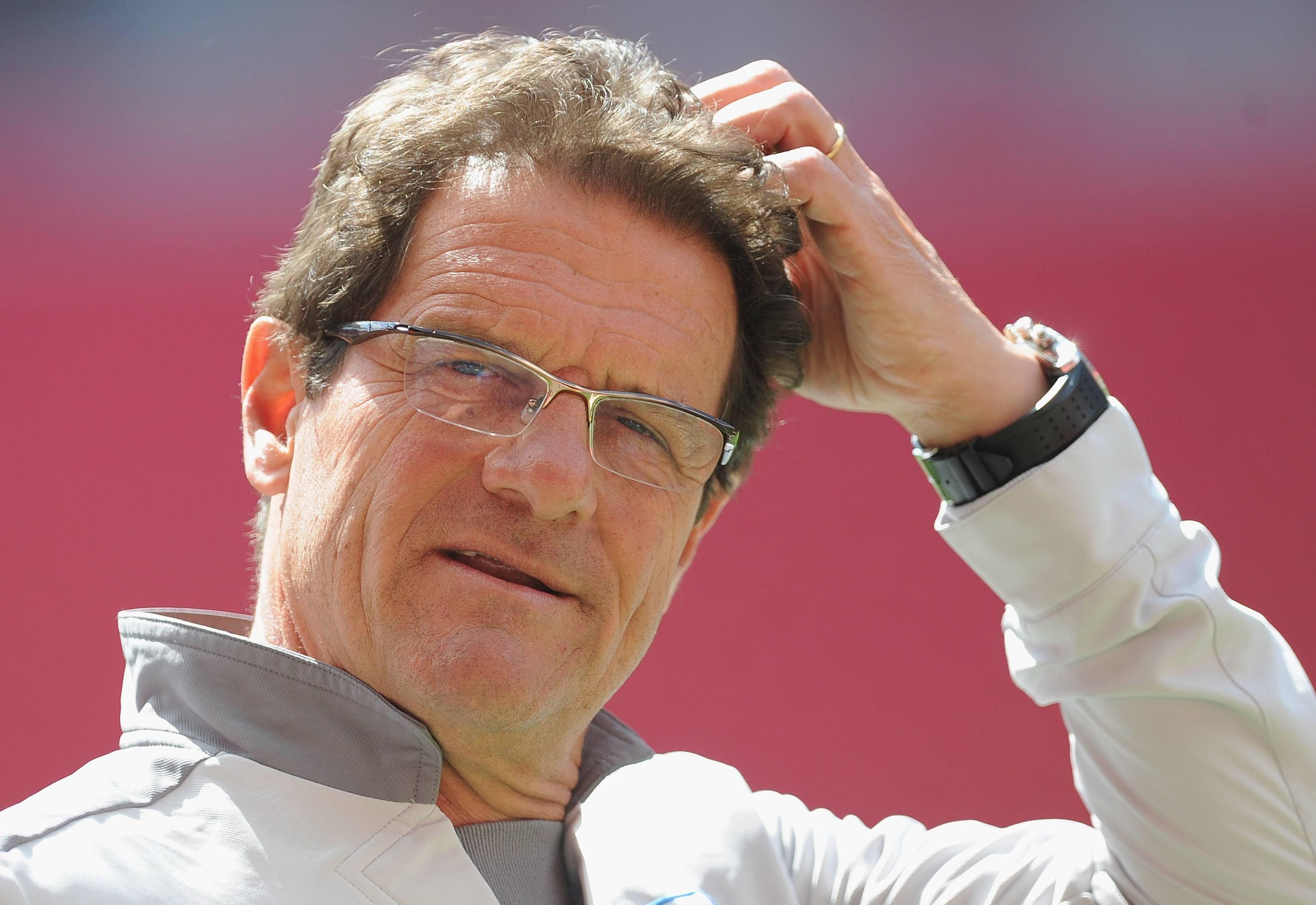 England manager Fabio Capello scratches his head