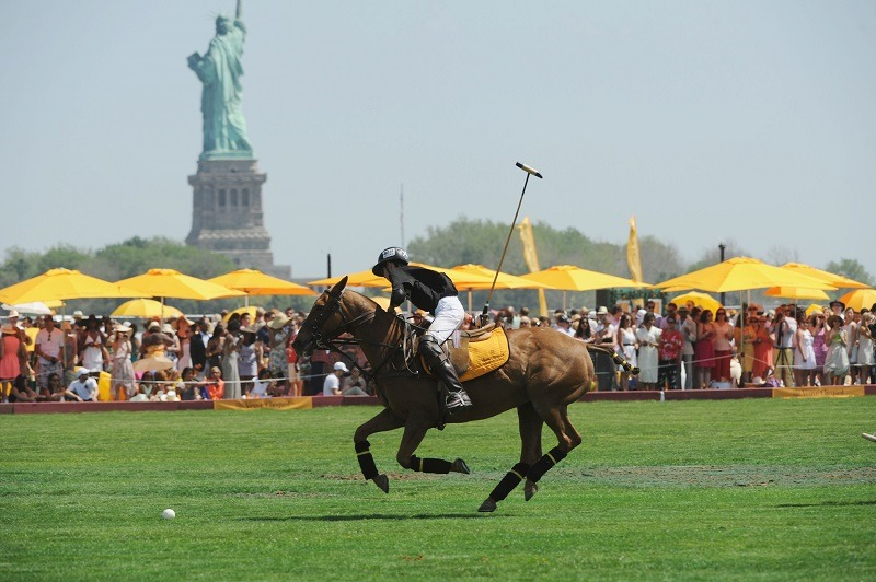 A polo match in Jersey City