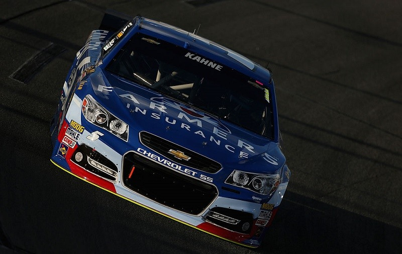 RICHMOND, VA - SEPTEMBER 05: Kasey Kahne, driver of the #5 Farmers Insurance Chevrolet, qualifies for the NASCAR Sprint Cup Series Federated Auto Parts 400 at Richmond International Raceway on September 5, 2014 in Richmond, Virginia.