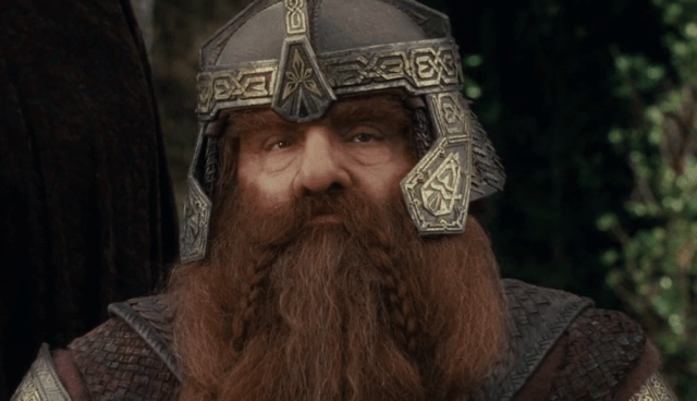 Gimli (John Rhys-Davies) from 'The Lord of the Rings: The Fellowship of the Ring'