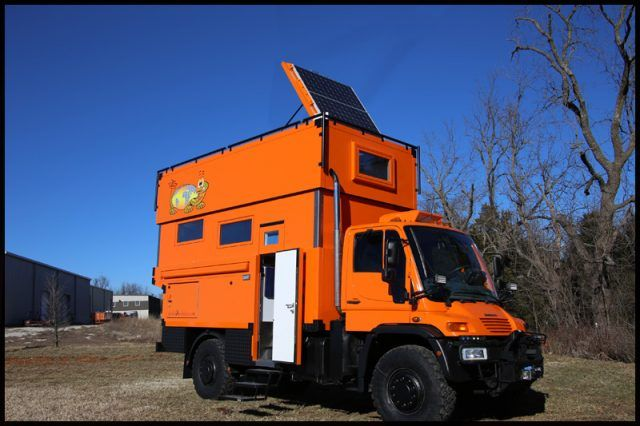 Global X Vehicles takessafety orange and gives it a new purpose on this Pangea roof lifter