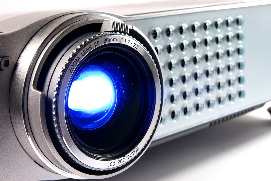 Video projector for work presentation