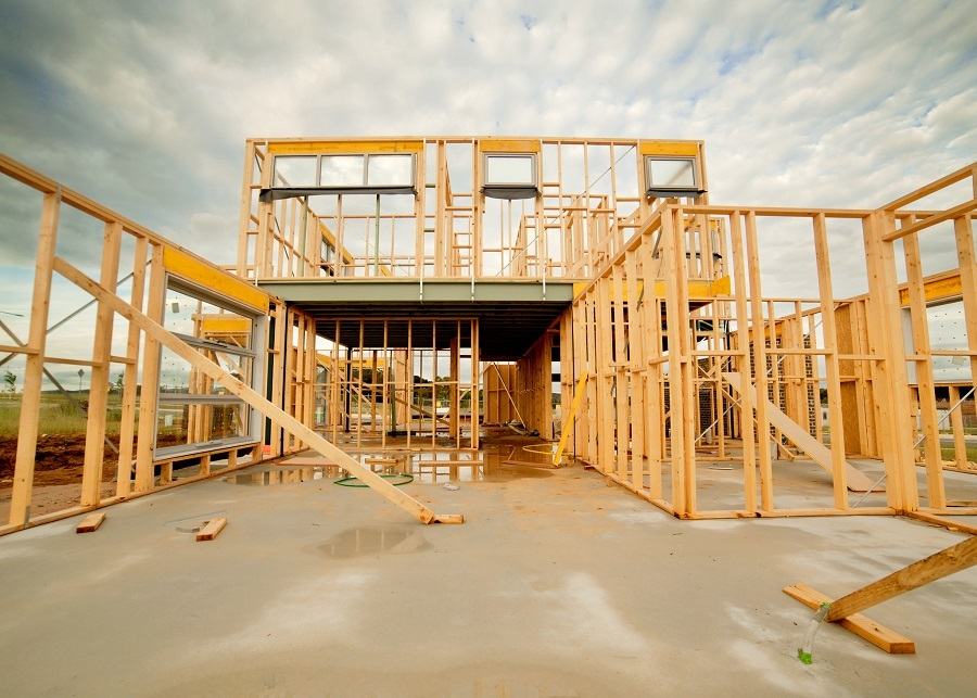 structure of under construction home