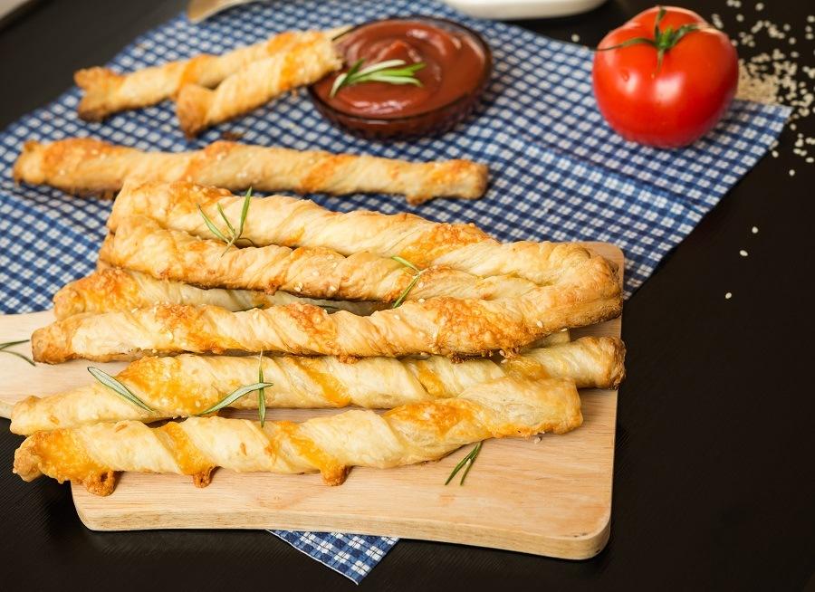 Cheesy Breadsticks with rosemary
