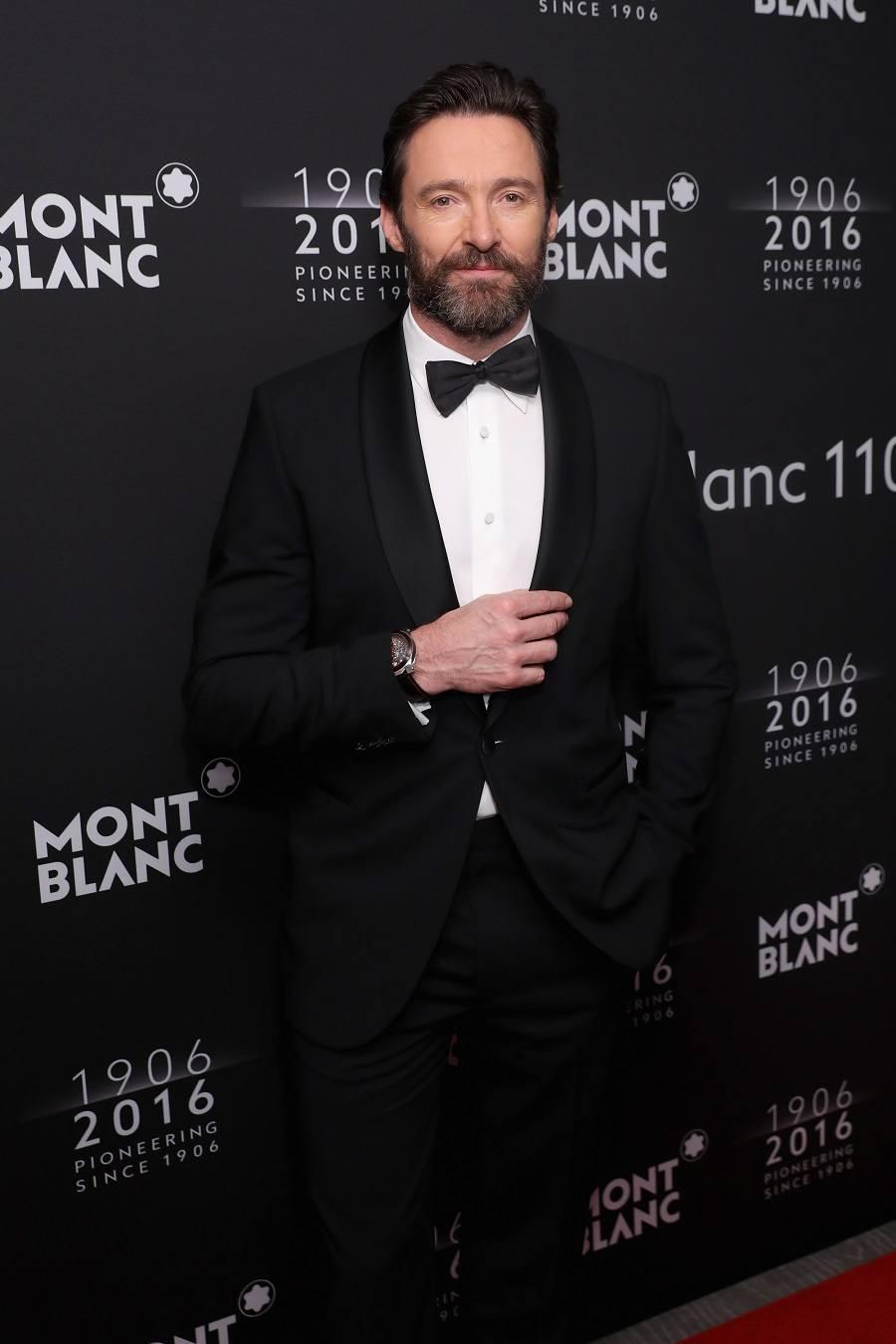 Hugh Jackman attends the Montblanc 110 Year Anniversary Gala Dinner