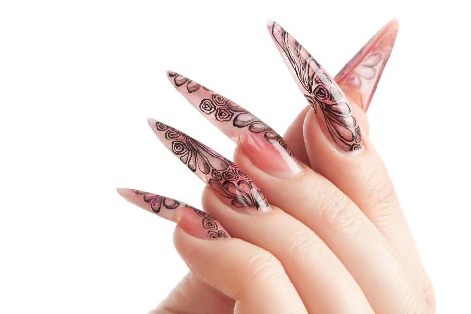 long fingernail and beautiful manicure