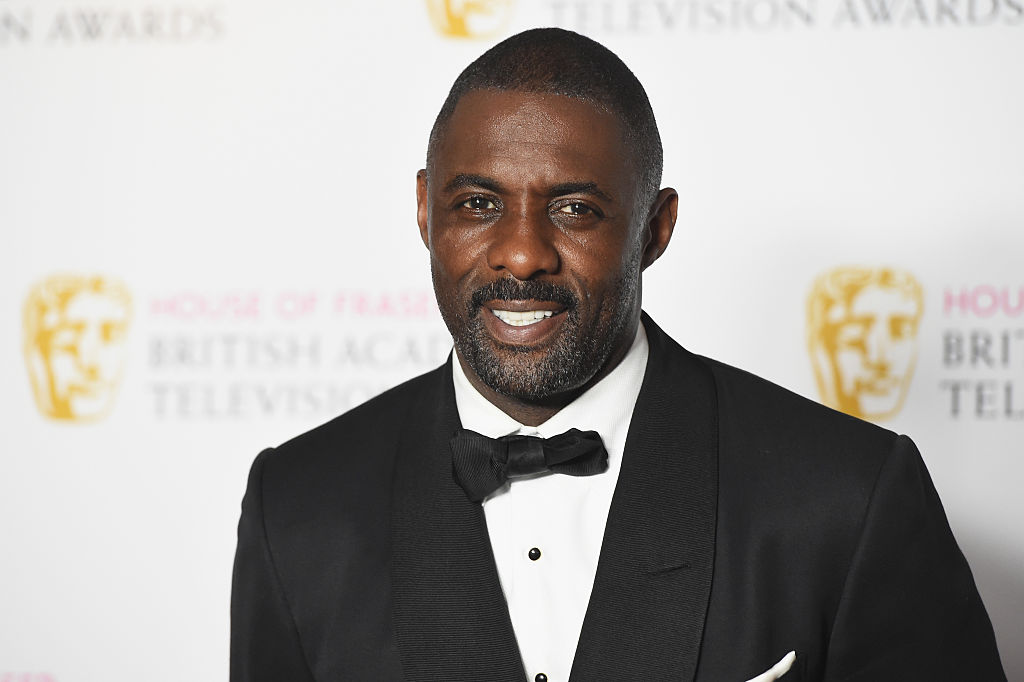 Idris Elba poses in the Winners room at the House Of Fraser British Academy Television Awards 2016