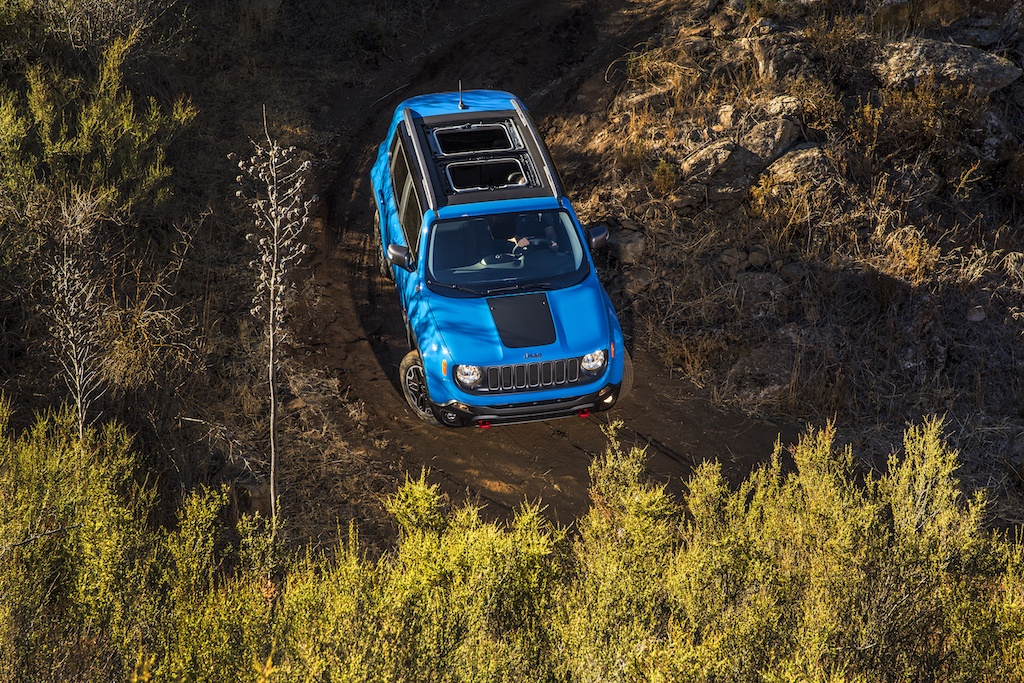 2016 Jeep Renegade with MySky roof