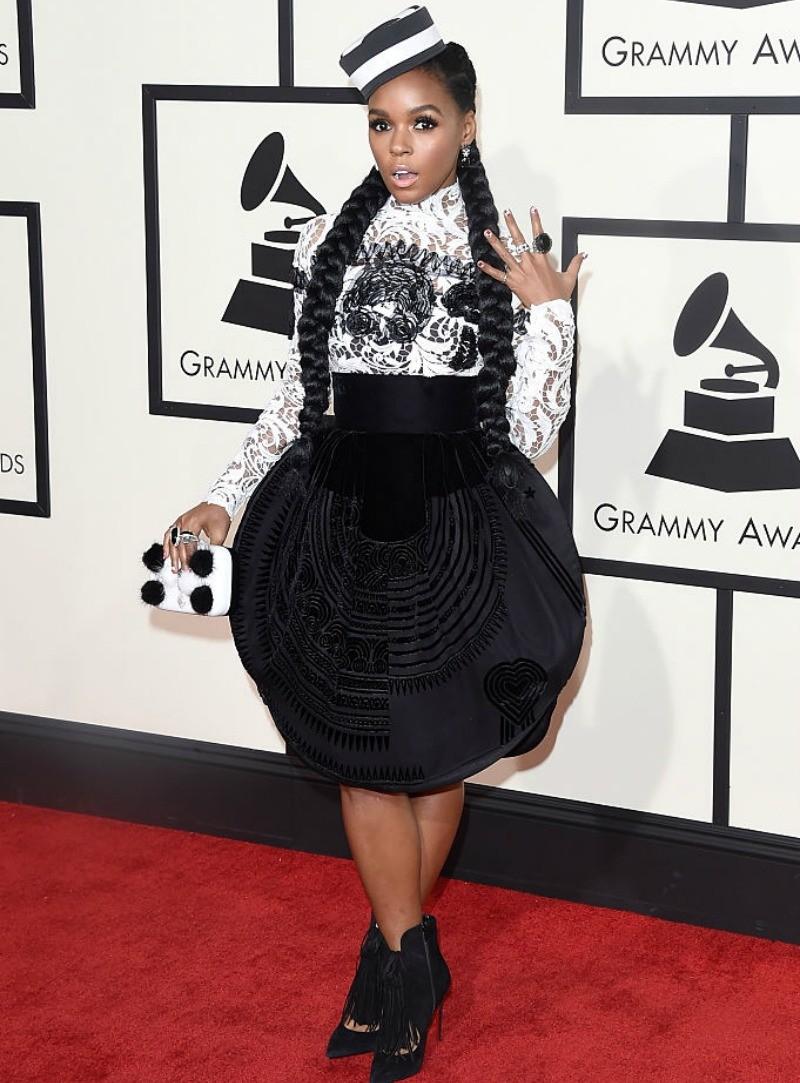 Janelle Monae at the Grammy Awards.