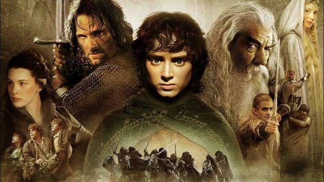 A promotional image for 'Lord of the Rings: The Fellowship of the Ring'