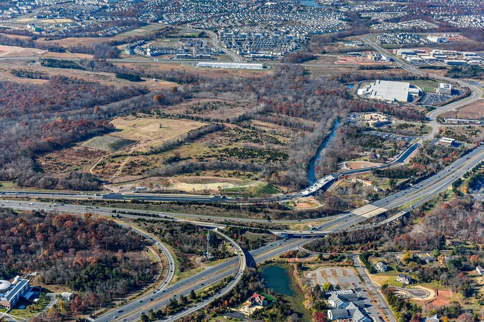 Loudoun County, Virginia from above
