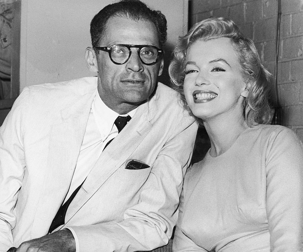 American actress Marilyn Monroe (1926 - 1962) with her husband, playwright Arthur Miller