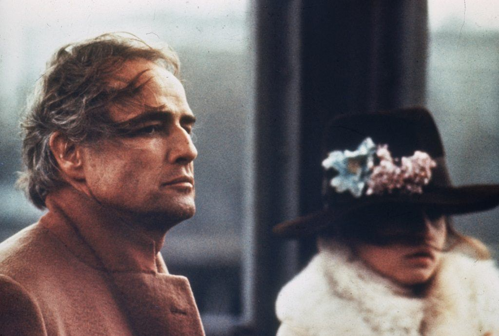 Marlon Brando and Maria Schneider star in Bernardo Bertolucci's film 'Last Tango in Paris'