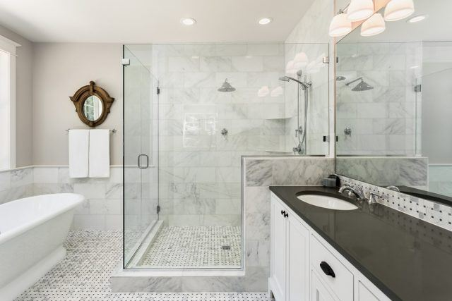 Beautiful master bathroom with shower
