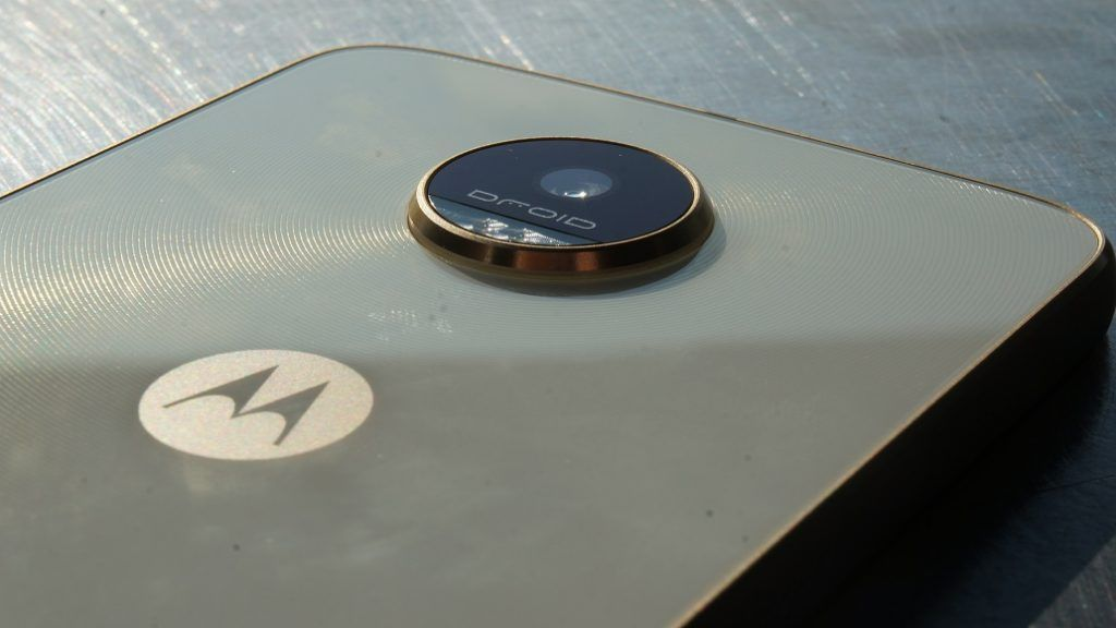 Close-up of camera for Moto Z Play Droid