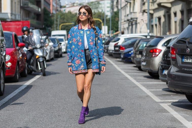 Negin Mirsalehi attending Etro fashion show