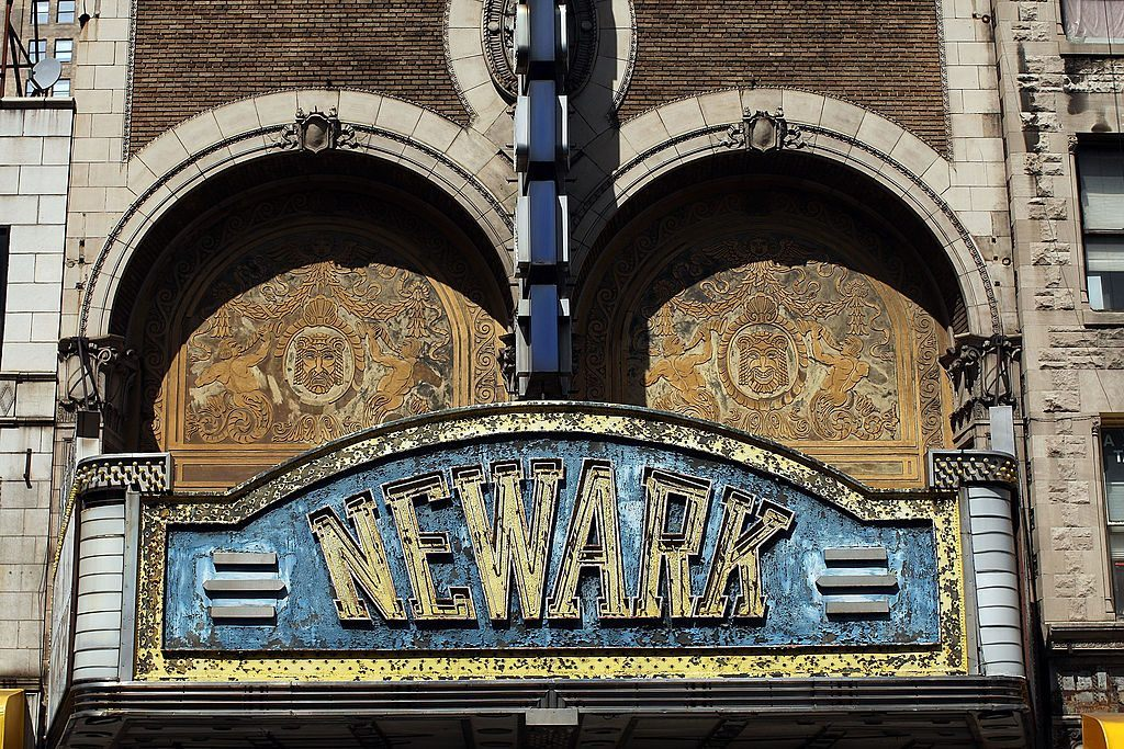 Newark, New Jersey, theater marquee