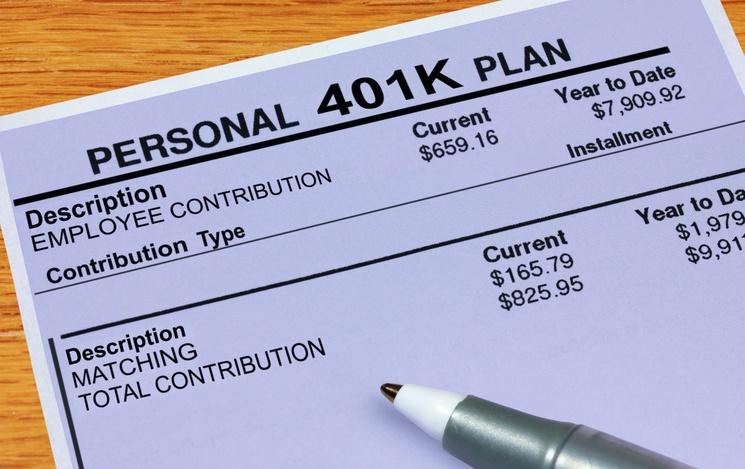 personal 401K plan financials