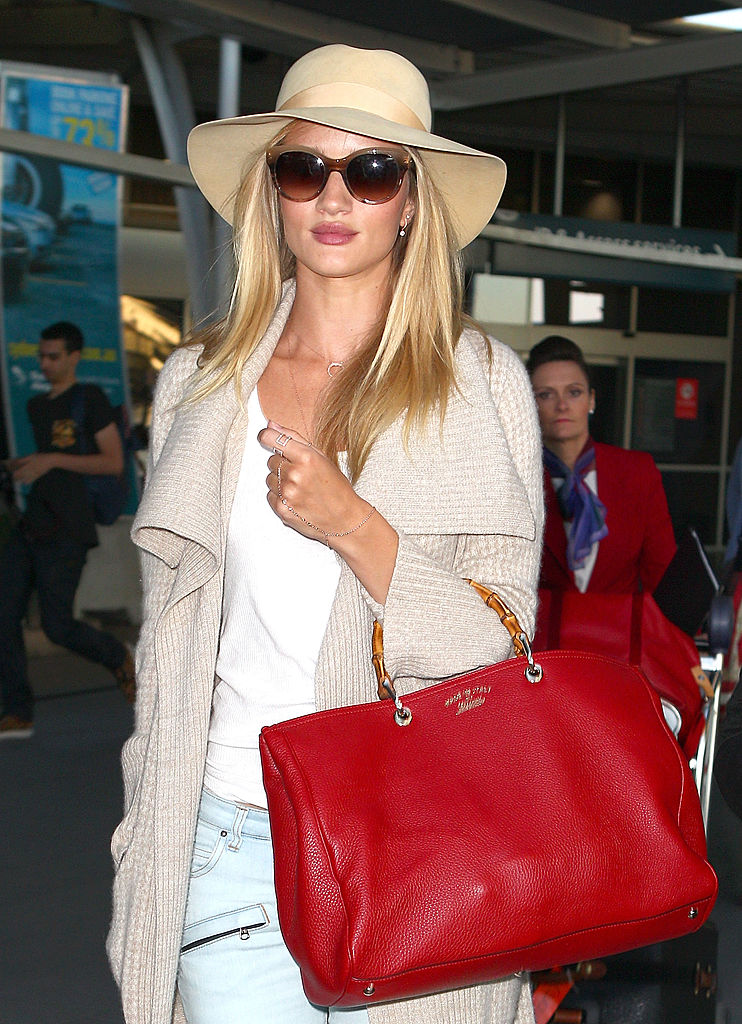 Rosie Huntington-Whiteley arrives in Australia for a Hayman Island photo shoot