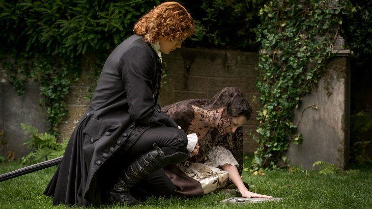Sam Heughan and Caitriona Balfe in Outlander