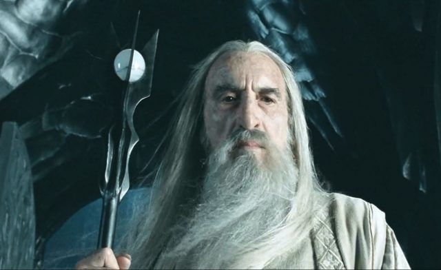 Saruman (Christopher Lee) in 'The Lord of the Rings: The Fellowship of the Ring'
