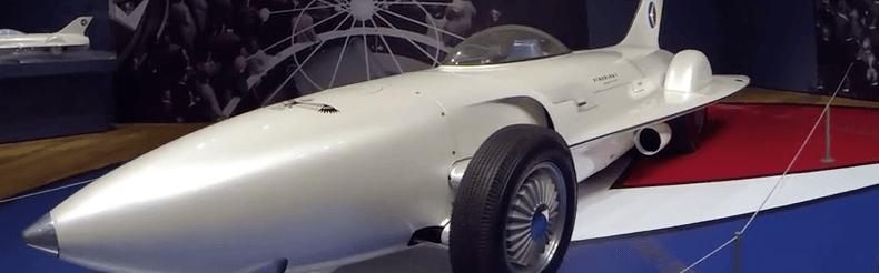 1953 General Motors Firebird I on display