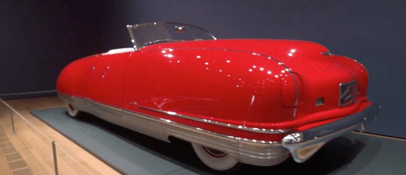 Red 1941 Chrysler Thunderbolt on display