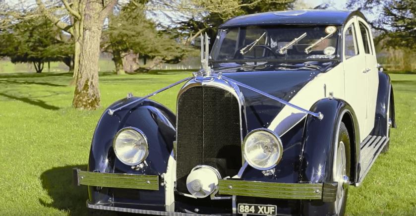 1935 Voisin Aerodyne parked on grass