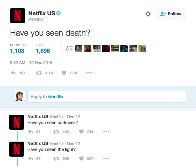 The OA on Netflix's Twitter account