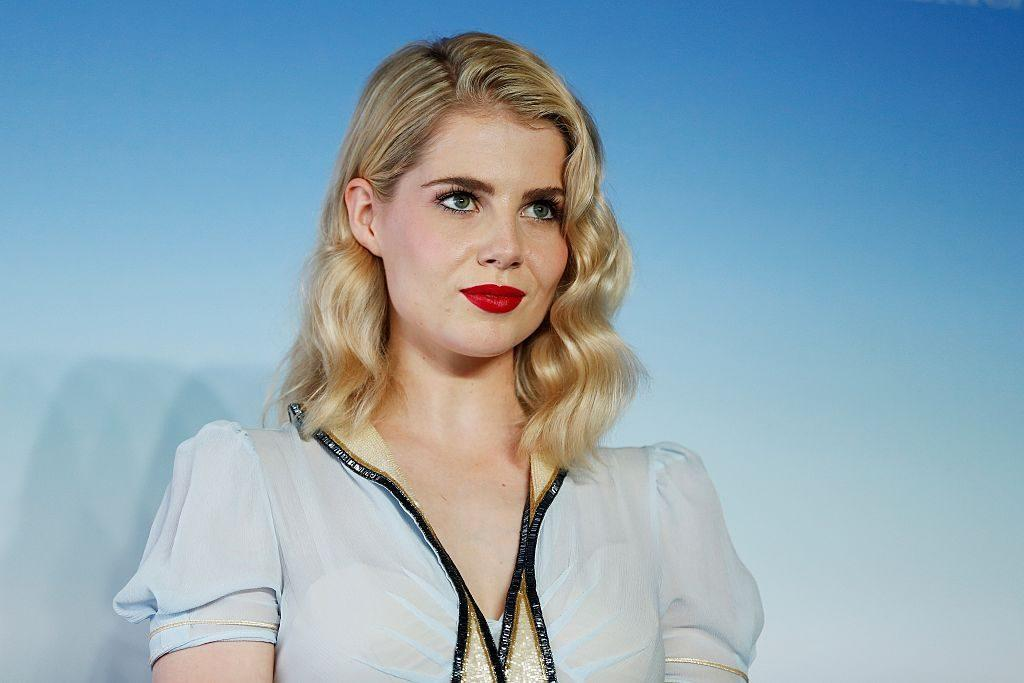 """British actress Lucy Boynton poses during a photocall for the movie """"Sing Street"""" on September 6, 2016 in the French northwestern sea resort of Deauville, as part of the 42nd Deauville US Film Festival. / AFP / CHARLY TRIBALLEAU (Photo credit should read CHARLY TRIBALLEAU/AFP/Getty Images)"""