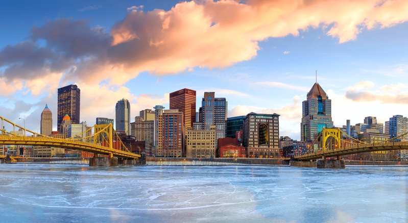 Skyline of downtown Pittsburgh