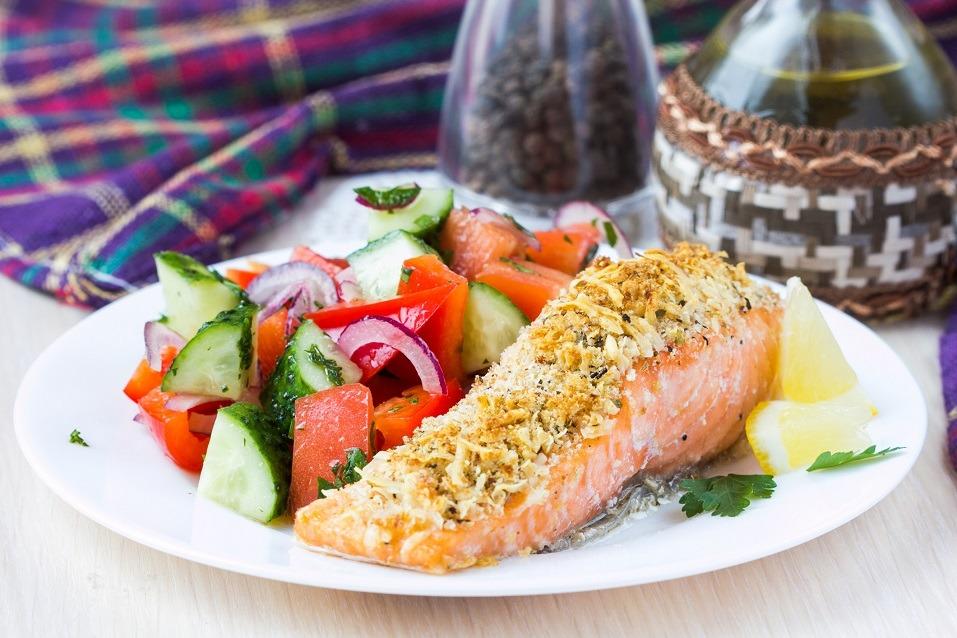 Parmesan-crusted salmon
