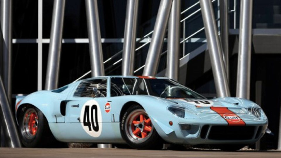 A 1968 Ford GT40 Gulf Mirage