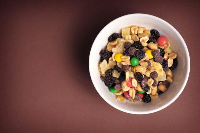 Trail mix is healthier when you make it at home.