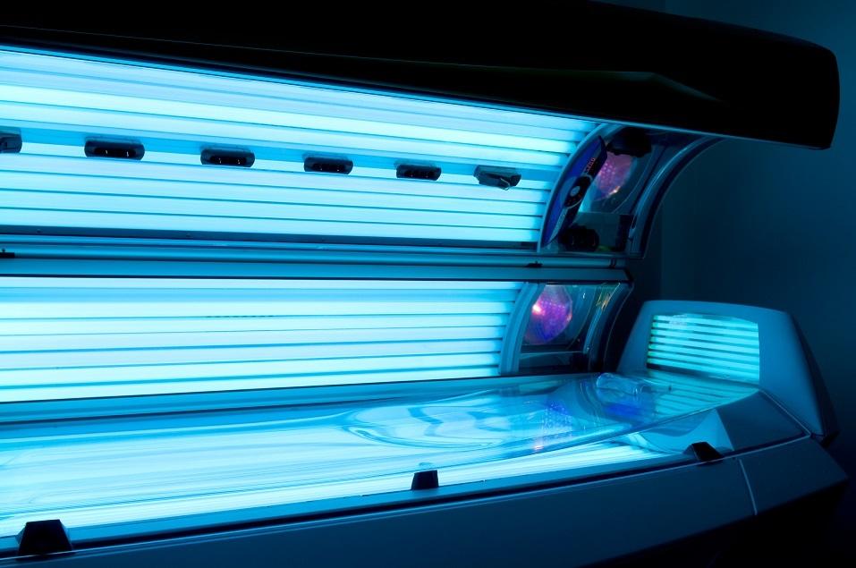 Tanning bed solarium at health club