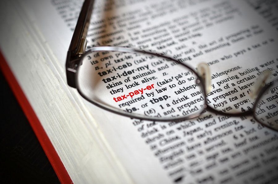 Glasses laying on a dictionary