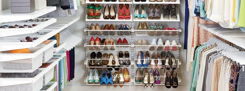 organized closet thanks to the container store