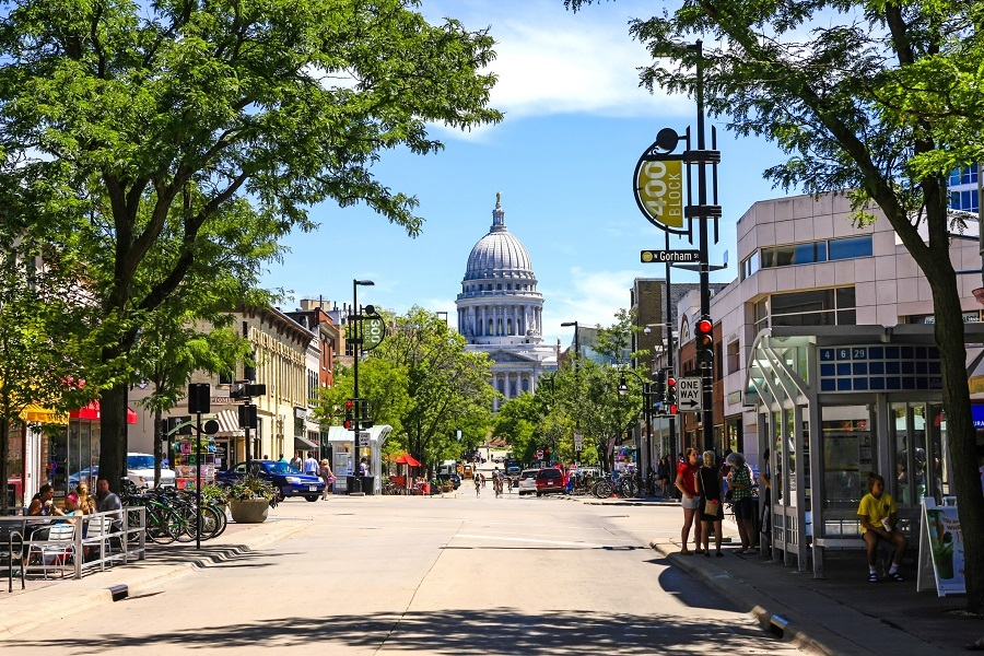 State Capitol building in Madison Wisconsin