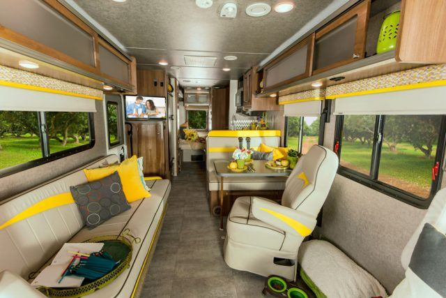 Vintage interior within the Winnebago Brave looks straight out of the 1970s | Winnebago