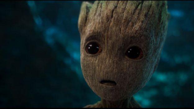 Baby Groot looking worried