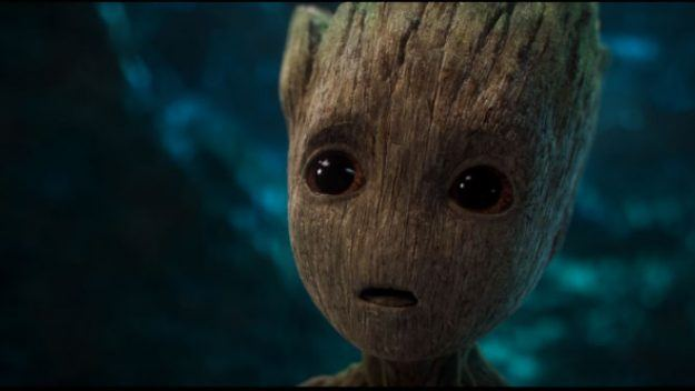 Baby Groot looking worried