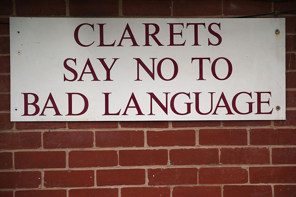 bad language sign