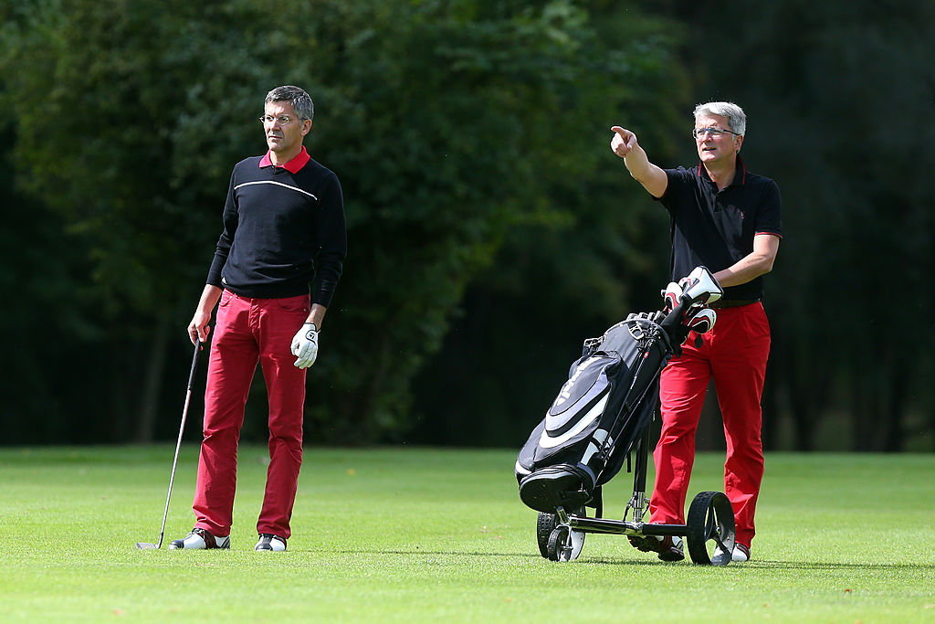 Business executives hit the links