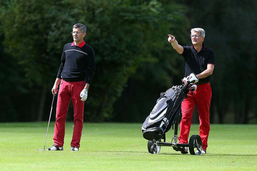 CEOs golfing