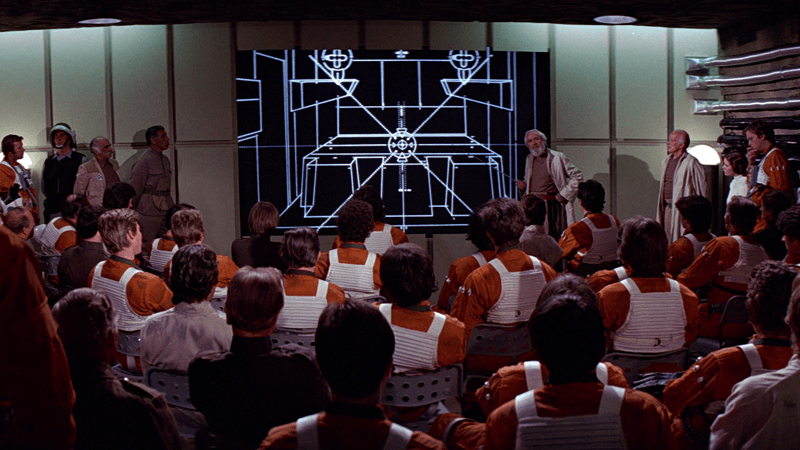 The Death Star plans in Star Wars: A New Hope