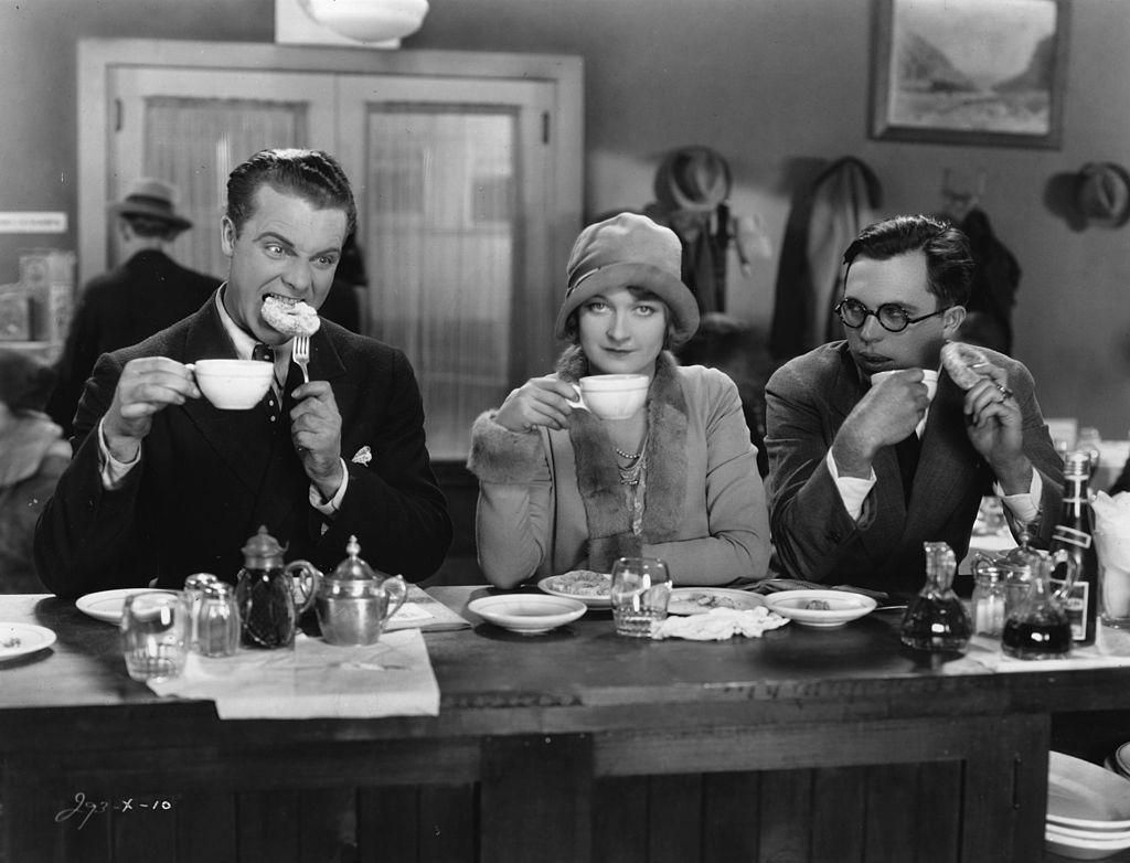 Old People Drinking Tea