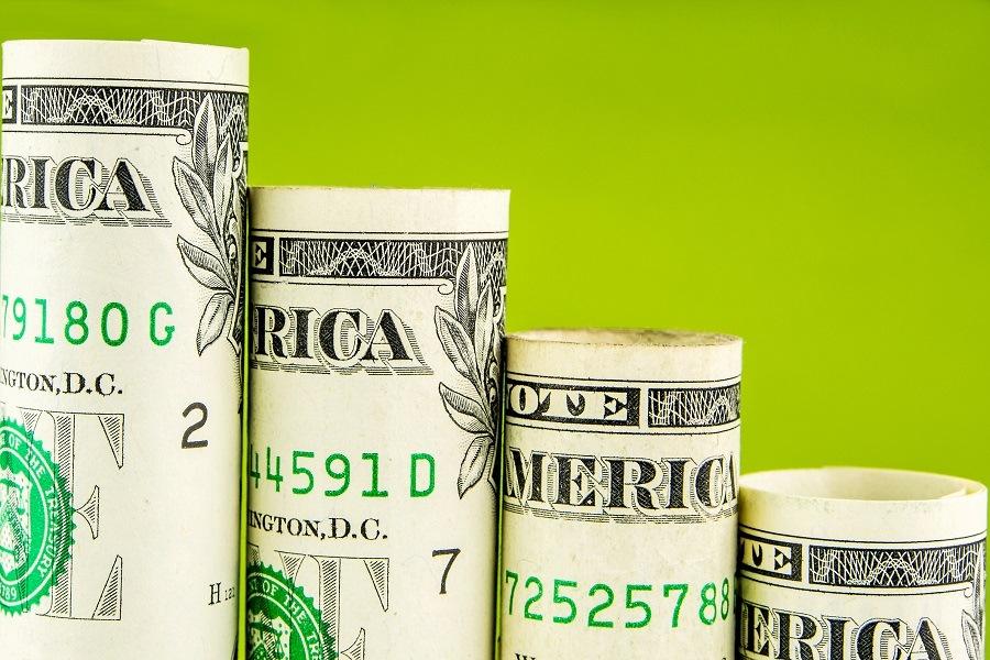 Descending American dollars