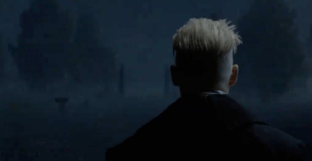 Grindelwald (Johnny Depp) appears in a scene from 'Fantastic Beasts and Where To Find Them'