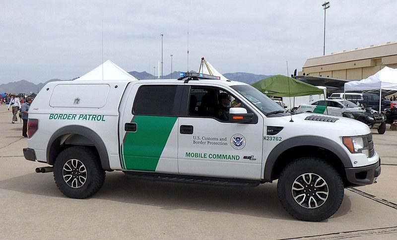 A Ford Raptor SVT after being converted to a Border Patrol vehicle.