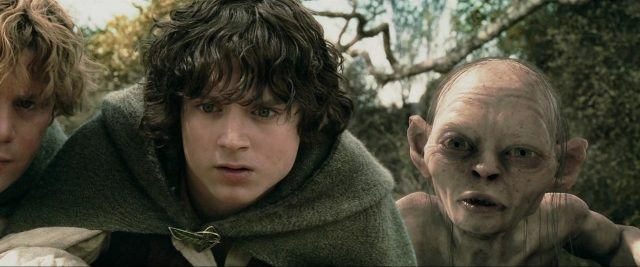 Sam (Sean Astin), Frodo (Elijah Wood) and Gollum (Andy Serkis) in 'The Lord of the Rings: The Two Towers'